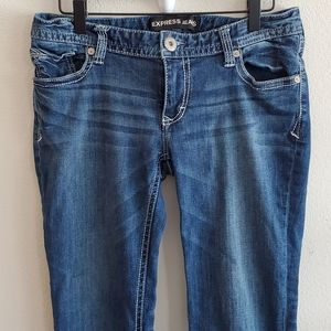 Express Stella Low Rise Boot Cut Jeans 8 Reg.